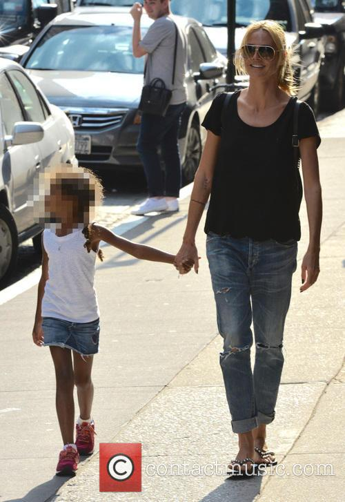 Heidi Klum out with her family