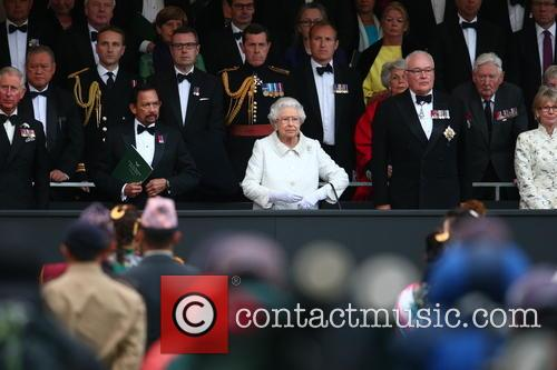 Queen Elizabeth Ll, Prince Philip, Duke Of Edinburgh and The Sultan Of Brunei 1