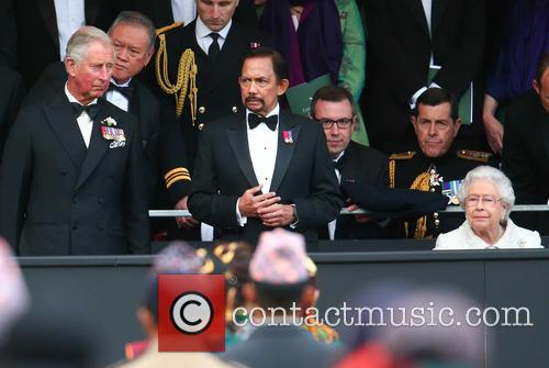 Prince Charles, Hrh Sultan Of Brunei and Queen Elizabeth Ii 2