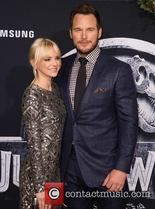 Chris Pratt and Anna Faris at the Jurassic World premiere