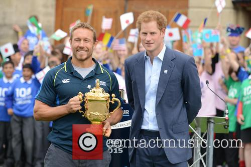 Prince Harry, Will Greenwood and Jonny Wilkinson 8