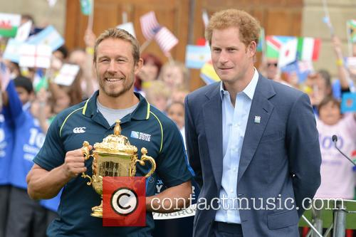 Prince Harry, Will Greenwood and Jonny Wilkinson 10