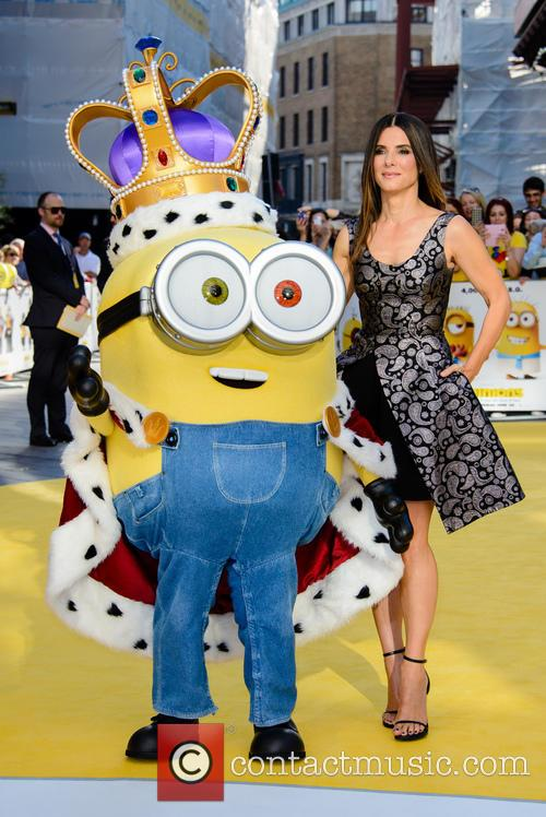 Sandra Bullock Returns To Red Carpet For 'Minions' World Premiere