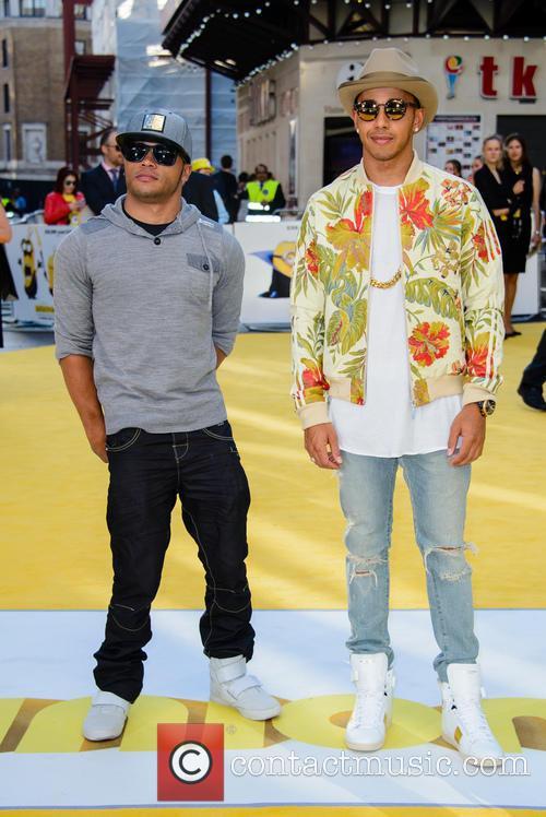 Nicolas Hamilton and Lewis Hamilton 1