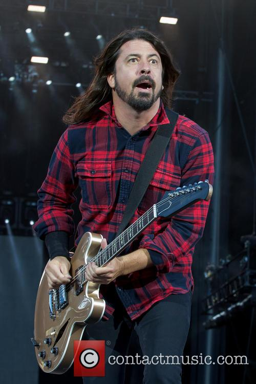Dave Grohl performing live with Foo Fighters