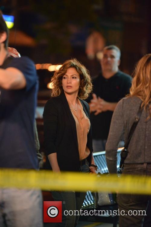 Jennifer Lopez on the set of Shades of...
