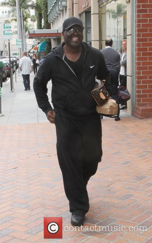 New Edition singer Johnny Gill spotted leaving a...