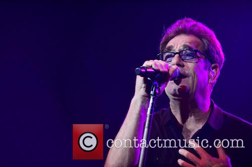 Huey Lewis and The News performing at Hard...