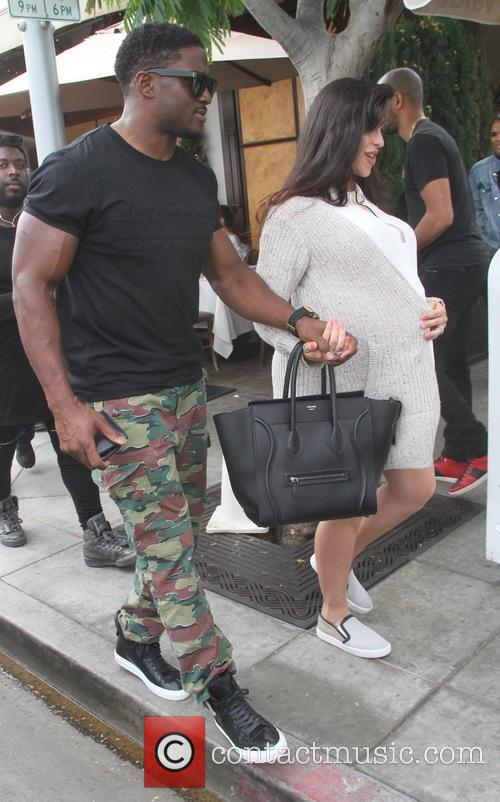 Reggie Bush and his pregnant wife Lilit Avagyan...