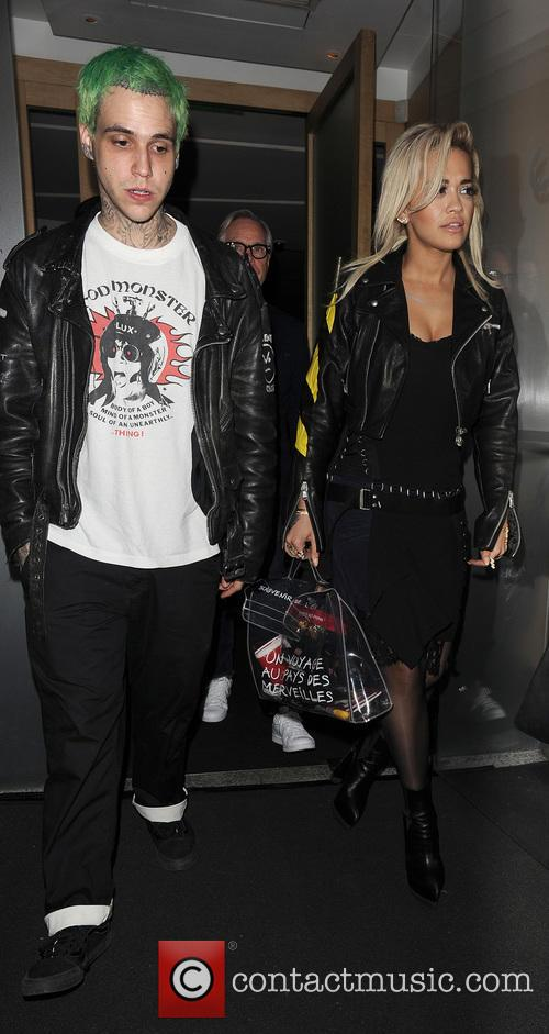 Rita Ora and her then partner Ricky Hil
