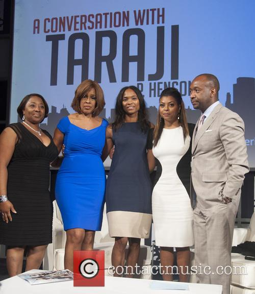 Guest, Gayle King, Nicole Friday, Taraji P. Henson and Jeff Friday 1