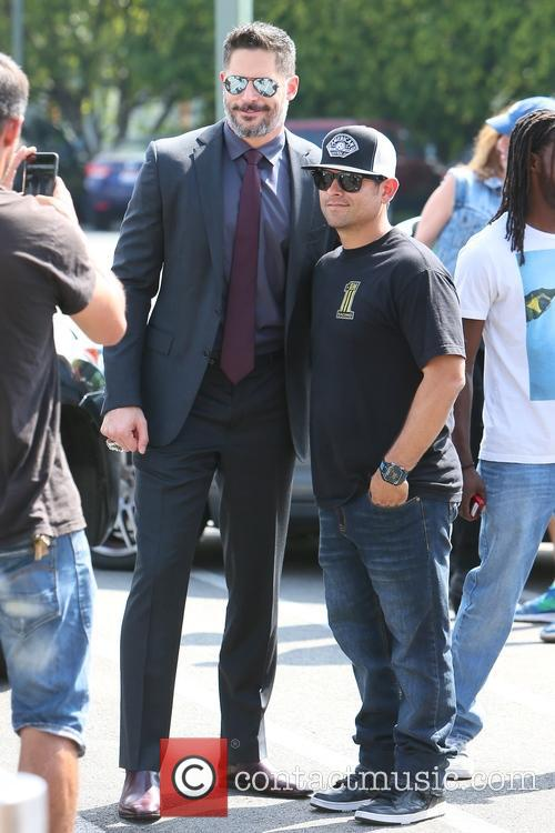 Joe Manganiello is interviewed by Mario Lopez for...