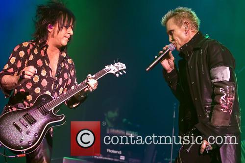Billy Idol performs live at Glasgow's O2 Academy
