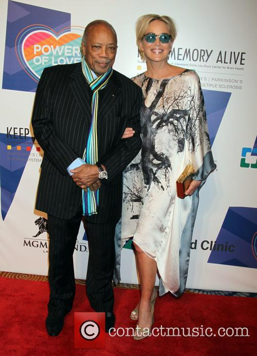 Sharon Stone and Quincy Jones 2