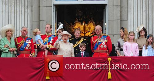 Prince George, Duchess Of Cambridge, Prince William and The Queen 2