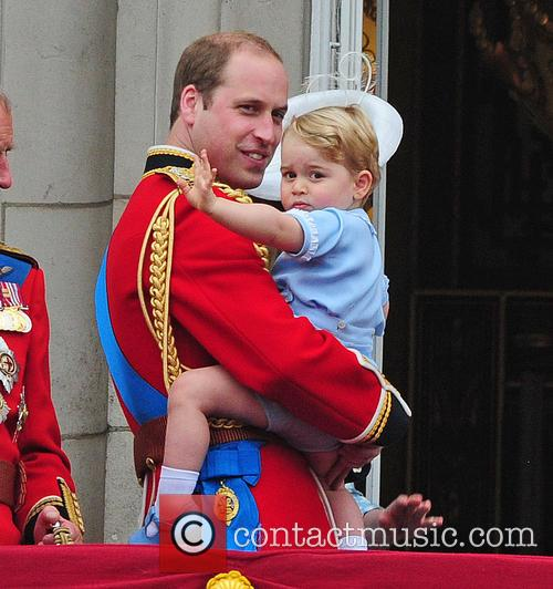 Prince George, Duchess Of Cambridge, Prince William and The Queen 3