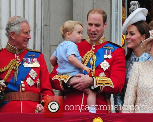 Prince George, Duchess Of Cambridge, Prince William and The Queen 5