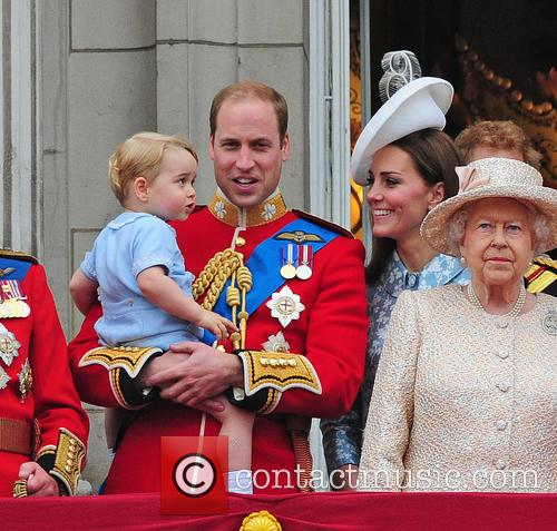Prince George, Duchess Of Cambridge, Prince William and The Queen 6
