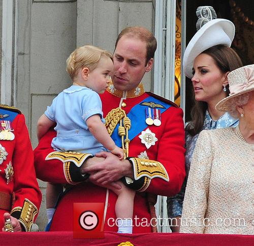 Prince George, Duchess Of Cambridge, Prince William and The Queen 8