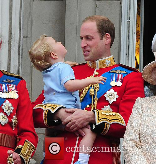Prince George, Duchess Of Cambridge, Prince William and The Queen 9