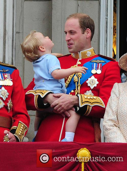 Prince George, Duchess Of Cambridge, Prince William and The Queen 10