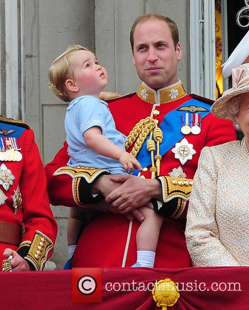 Prince George, Duchess Of Cambridge, Prince William and The Queen 1