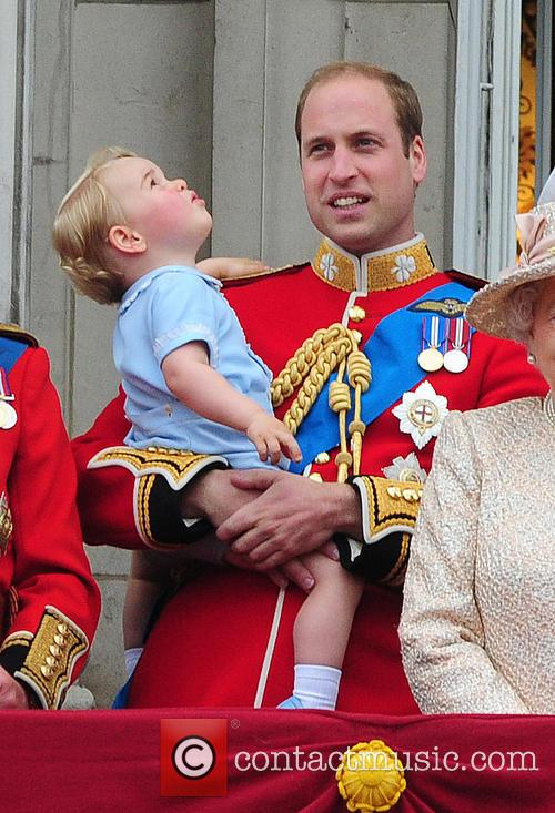 Prince George, Duchess Of Cambridge, Prince William and The Queen 11