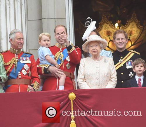 Prince Charles, Prince George, Prince William, Queen Elizabeth Ii and Prince Harry 7
