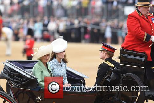 The Duchess Of Cornwall, The Duchess Of Cambridge and Prince Harry 5