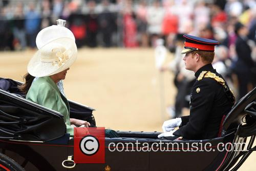 The Duchess Of Cornwall, The Duchess Of Cambridge and Prince Harry 7