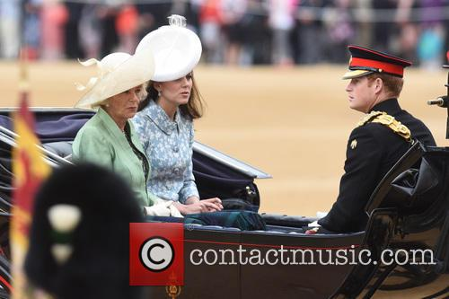 The Duchess Of Cornwall, The Duchess Of Cambridge and Prince Harry 1