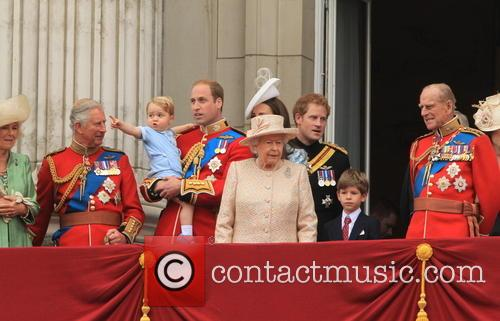 Charles, Prince Of Wales, Camilla, Duchess Of Cornwall, Prince George Of Cambridge, Prince William, Duke Of Cambridge, Catherine, Duchess Of Cambridge, Queen Elizabeth Ii, Prince Harry, Prince Philip and Duke Of Edinburgh 2