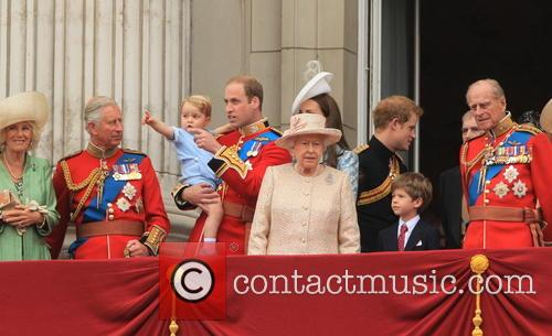 Charles, Prince Of Wales, Camilla, Duchess Of Cornwall, Prince George Of Cambridge, Prince William, Duke Of Cambridge, Catherine, Duchess Of Cambridge, Queen Elizabeth Ii, Prince Harry, Prince Philip and Duke Of Edinburgh 4