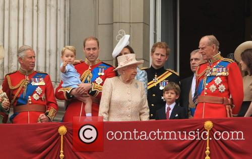 Charles, Prince Of Wales, Camilla, Duchess Of Cornwall, Prince George Of Cambridge, Prince William, Duke Of Cambridge, Catherine, Duchess Of Cambridge, Queen Elizabeth Ii, Prince Harry, Prince Philip and Duke Of Edinburgh 6