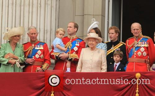 Charles, Prince Of Wales, Camilla, Duchess Of Cornwall, Prince George Of Cambridge, Prince William, Duke Of Cambridge, Catherine, Duchess Of Cambridge, Queen Elizabeth Ii, Prince Harry, Prince Philip and Duke Of Edinburgh 7