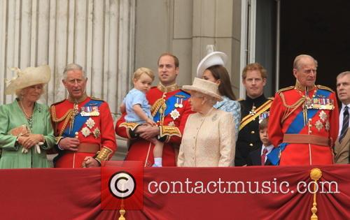 Charles, Prince Of Wales, Camilla, Duchess Of Cornwall, Prince George Of Cambridge, Prince William, Duke Of Cambridge, Catherine, Duchess Of Cambridge, Queen Elizabeth Ii, Prince Harry, Prince Philip and Duke Of Edinburgh 1