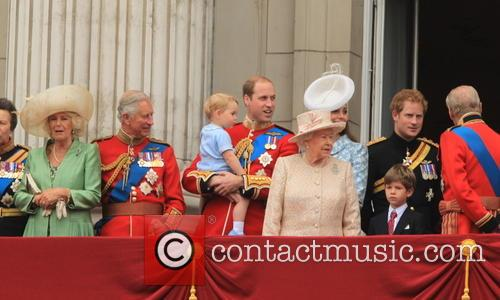 Charles, Prince Of Wales, Camilla, Duchess Of Cornwall, Prince George Of Cambridge, Prince William, Duke Of Cambridge, Catherine, Duchess Of Cambridge, Queen Elizabeth Ii, Prince Harry, Prince Philip and Duke Of Edinburgh 9