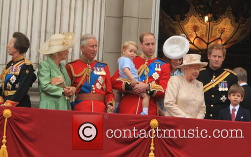 Anne, Princess Royal, Charles, Prince Of Wales, Camilla, Duchess Of Cornwall, Prince William, Duke Of Cambridge, Prince George Of Cambridge, Catherine, Duchess Of Cambridge, Queen Elizabeth Ii and Prince Harry 5