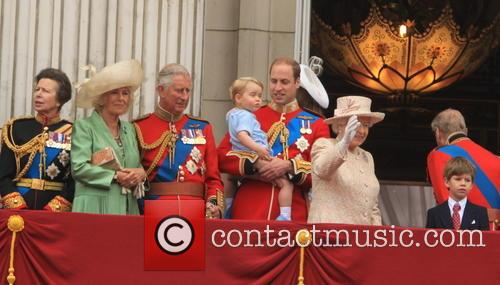 Anne, Princess Royal, Charles, Prince Of Wales, Camilla, Duchess Of Cornwall, Prince William, Duke Of Cambridge, Prince George Of Cambridge, Catherine, Duchess Of Cambridge, Queen Elizabeth Ii and Prince Harry 6