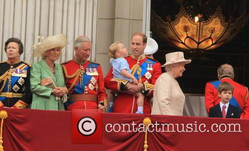 Anne, Princess Royal, Charles, Prince Of Wales, Camilla, Duchess Of Cornwall, Prince William, Duke Of Cambridge, Prince George Of Cambridge, Catherine, Duchess Of Cambridge, Queen Elizabeth Ii and Prince Harry 7