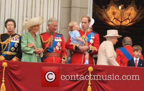 Anne, Princess Royal, Charles, Prince Of Wales, Camilla, Duchess Of Cornwall, Prince William, Duke Of Cambridge, Prince George Of Cambridge, Catherine, Duchess Of Cambridge, Queen Elizabeth Ii and Prince Harry 1