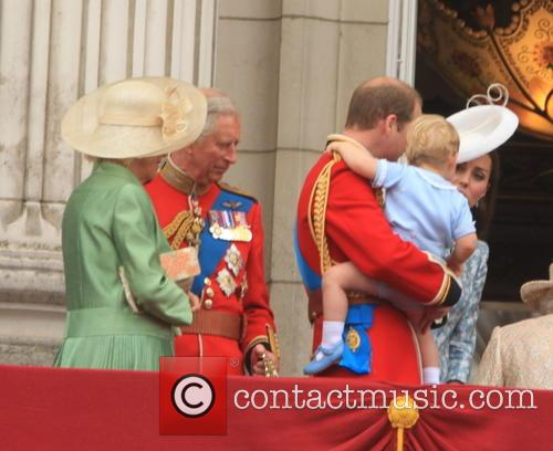Charles, Prince Of Wales, Camilla, Duchess Of Cornwall, Prince William, Duke Of Cambridge and Prince George Of Cambridge 10