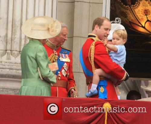Charles, Prince Of Wales, Camilla, Duchess Of Cornwall, Prince William, Duke Of Cambridge and Prince George Of Cambridge 11