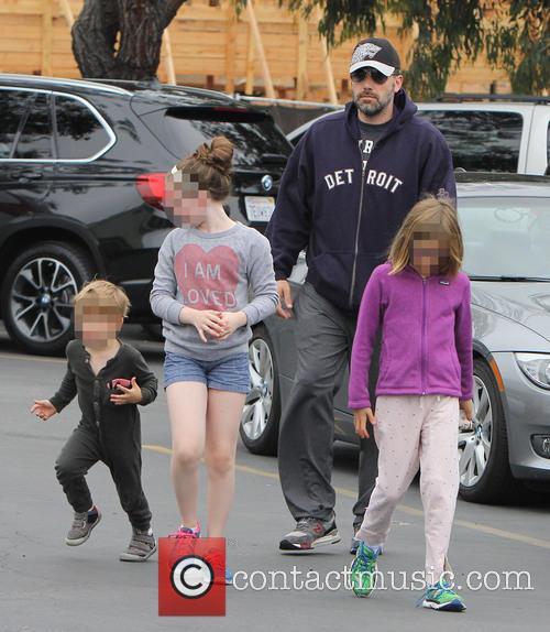 Ben Affleck, Violet Affleck and Samuel Garner Affleck 2
