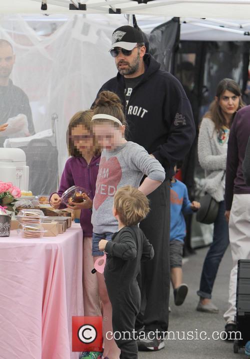 Ben Affleck, Violet Affleck and Samuel Garner Affleck 1