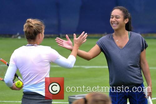 Somona Halep and Heather Watson 2