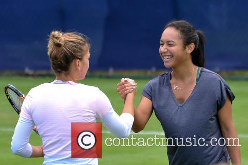 Somona Halep and Heather Watson 1