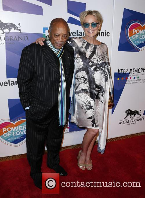 Quincy Jones and Sharon Stone 1