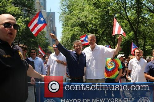 Puerto Rico Governor Alejandro Garcia Padilla and Bill Deblasio 2