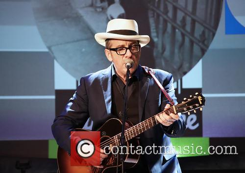 Elvis Costello performing live at Liverpool Philharmonic Hall